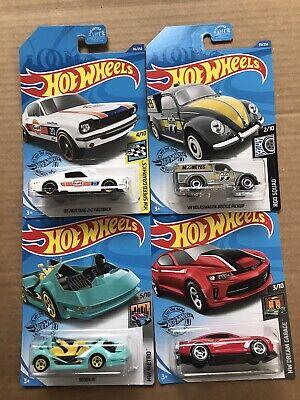 2020 Hot Wheels Dollar General Exclusive Set of 4 FOUR Cars Camaro VW Mustang +