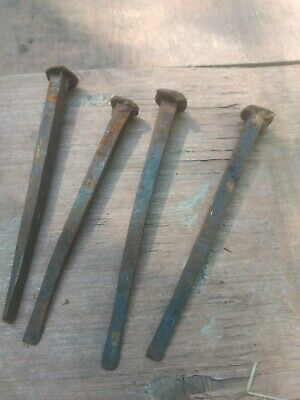 Hand forged old iron nails 8in