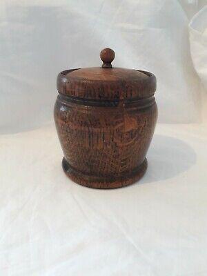 Vintage/Antique Wooden Oak Tea Caddy