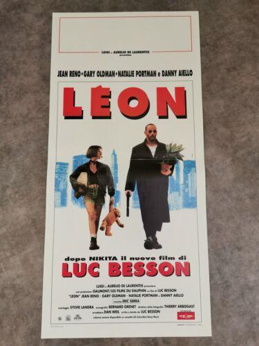 "THE PROFESSIONAL - LEON Original Movie Poster 12X27"" Italian BESSON PORTMAN RENO"