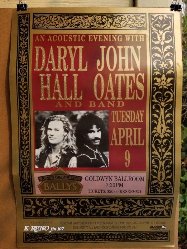 Daryl Hall  & John Oates Concert show poster bill Graham reno Ballys