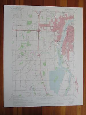 1870 FL MAP Ormond Beach Osprey Oviedo Pace Palatka Palm Bay Beach City Coast XL
