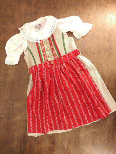 CUTE! Girls German Trachten Oktoberfest Dirndl Dress 3 Piece Set Size 92 - 2 - 3