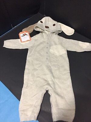 0-6 Months Pottery Barn Kids BABY KNIT PUPPY Dog COSTUME Halloween Sleep Outfit