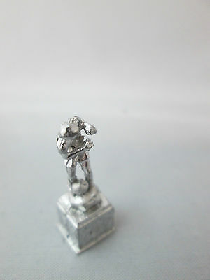 Dollhouse Miniature Unfinished Metal Soccer Trophy