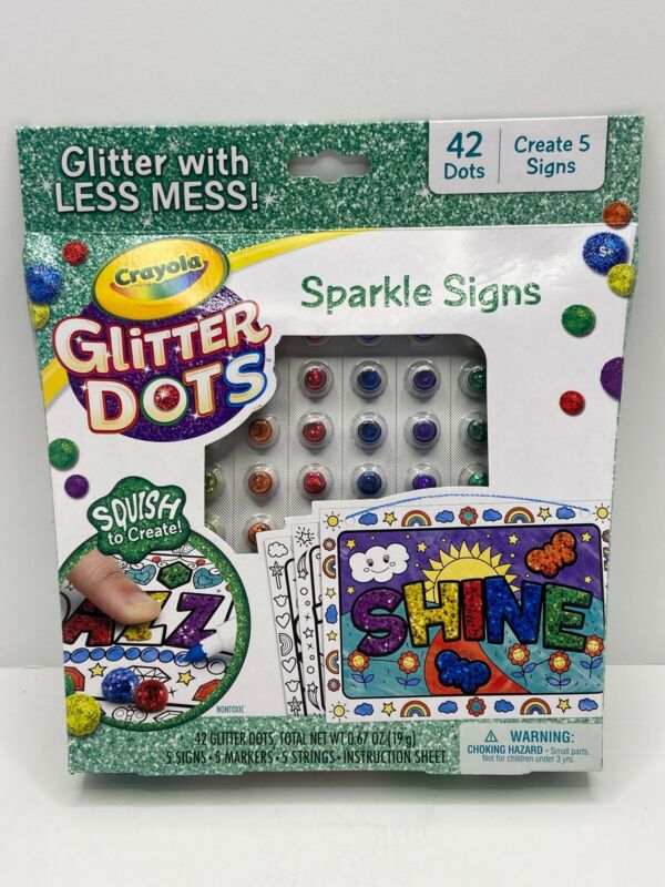 Crayola Glitter Dots- Sparkle Signs- Create 5 Signs