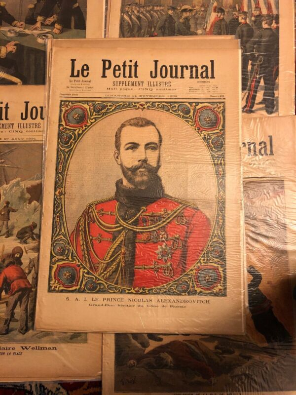 Lots Of 1896 Antique French Magazine Le Petit Journal $350 Each