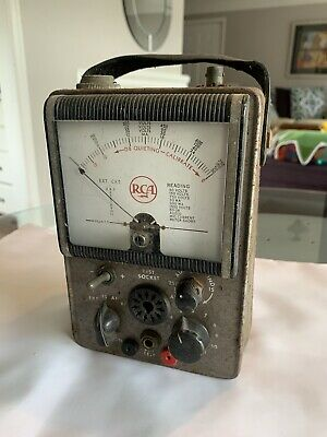 Vintage Rca Vacuum Tube Volt Meter- Model Unknown