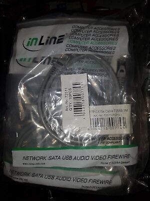 10 Stk. Ethernet Patch Kabel 1m Grau SFTP CAT5e T568B (neu) 10er Pack (Ethernet-kabel 10er Pack)