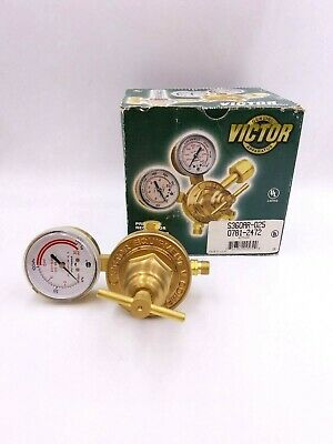 Victor S360ar-025 Acetylene Pressure Regulator Gauge 0781-2472 200psig Brass Nos