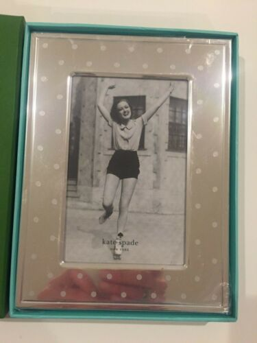 "Kate Spade New York"" Larabee dot"" Picture Frame, 4 x 6"", silver tone, polka dot"