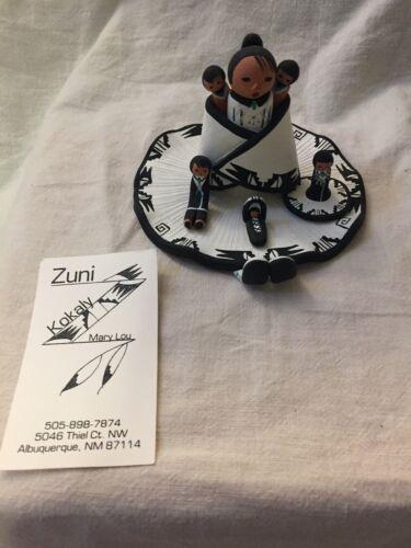 Handmade Signed Mary Lou Zuni Kokaly Storyteller Clay Pueblo Pottery
