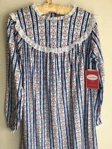 NWT Youth Lanz Of Salzburg Royal Blue Hearts Nightgown Dress