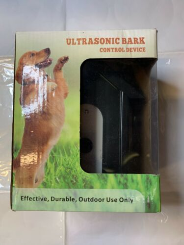 Ultrasonic bark control device efective,durable,outdoor use only