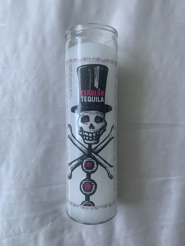 Espolon Tequila Skeleton Candle Brand NEW Snowman Spirit Prayer Yoga Candle