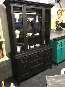 VINTAGE REFINISHED CHINA HUTCH CABINET $300