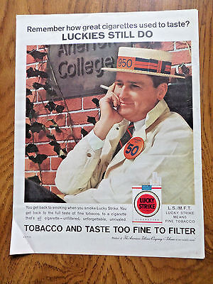 1960 Lucky Strike Cigarette Ad  1950 Class College Reunion theme](Class Reunion Themes)