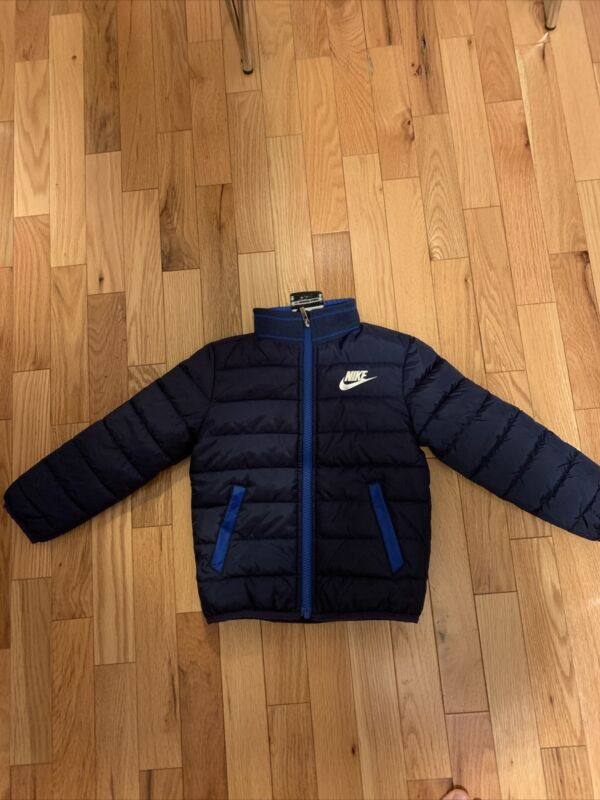 Nike Toddler Boy Navy Blue Puffer Winter Jacket Synthetic Feel Size 3T Puffer