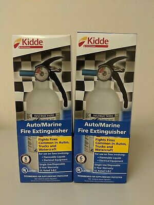 Kidde Automarine Disposable Fire Extinguisher 2-pack Item 171