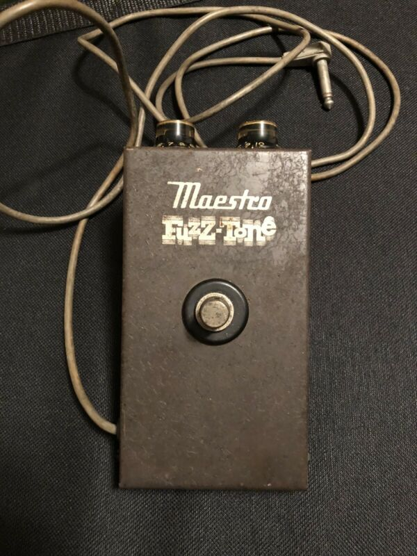 Vintage 1965 Gibson Maestro Fuzz Tone Guitar Effect Pedal FZ-1a
