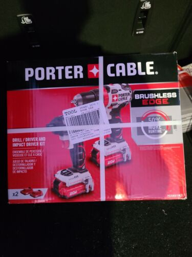 PORTER-CABLE 2-Tool 20-Volt Max Brushless Power Tool Combo K