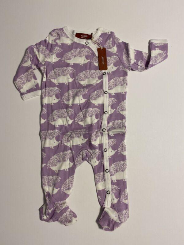 Brand New Milkbarn Kids Pajama Set- Purple Hedgehog