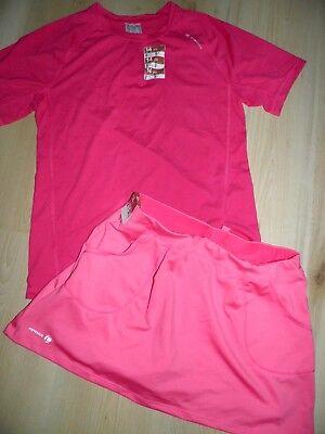 super Mädchen Tennis-Sachen:Rock+T-Shirt NEU ARTENGO  Gr-152-158-164