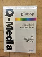 Joblot 10x100 Sheets Q-media Double-sided Glossy Paper 135g/m² 4 Music Cd O Dvd - qms - ebay.co.uk