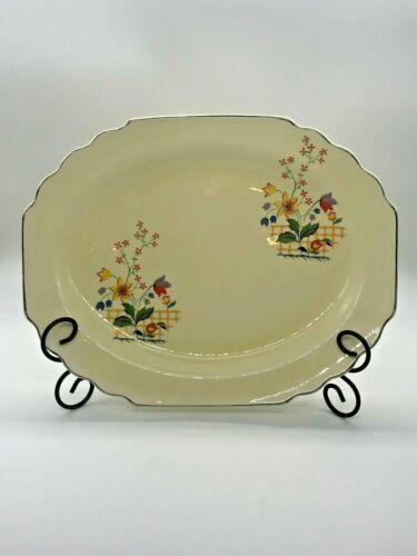 "LIDO WS George Canarytone Platter 13.25"" GAYLEA Floral Pattern 1930"
