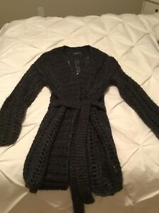 """""""Roots"""" Women's Cardigan (Grey) Cabin Collection, Sz M/L """"NEW"""""""