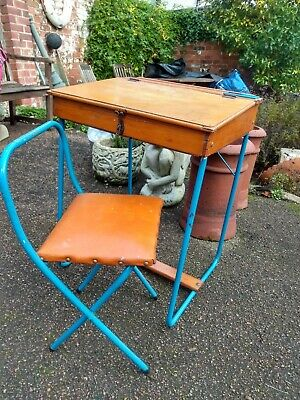 Childs School Desk and Chair 1960's