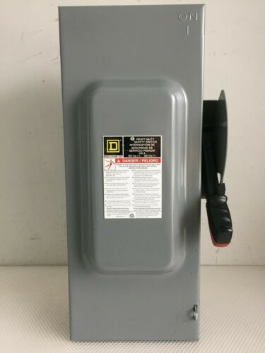 SQUARE D H363 100 AMP 600 VOLT 3 PHASE FUSED INDOOR DISCONNECT..D-538