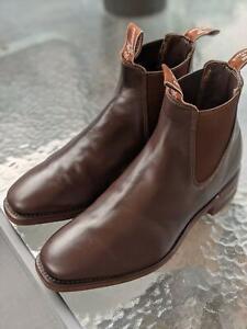 RM Williams - Men's Boots, Size 8H - Chestnut - **Worn twice**