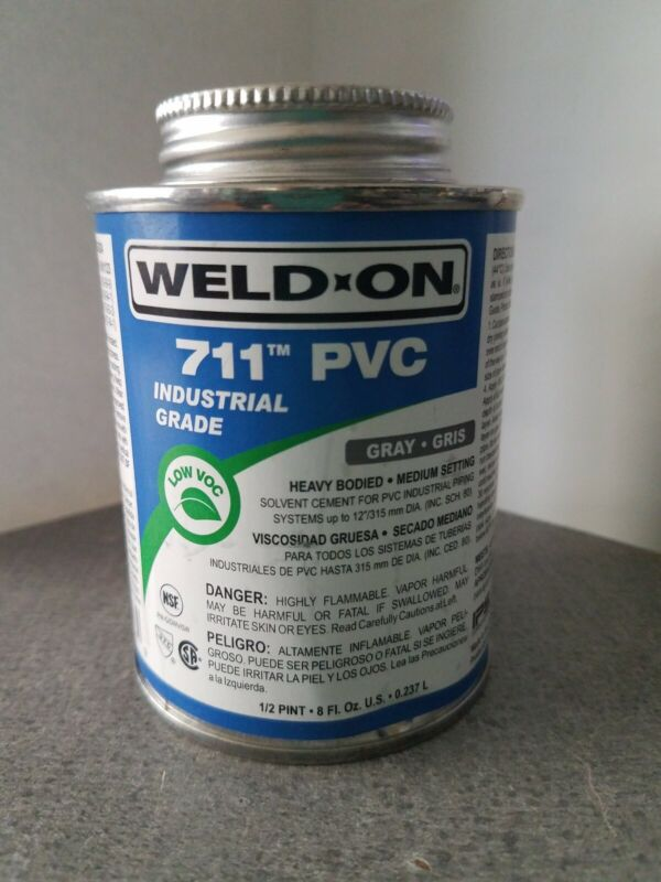 Weld-On 13976 Gray 711 Heavy-Bodied PVC Professional Industrial-Grade Cement