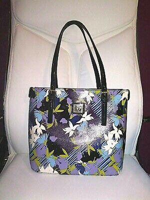 ANNE KLEIN Beautiful Blue Flowered Handbag NWOT
