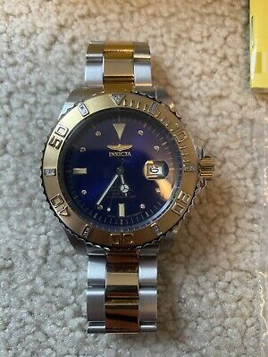 Invicta Pro Diver 0456 Automatic Gold Plated Dive Watch Mens
