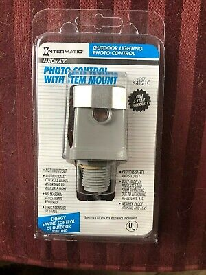 Intermatic Photo Controlsensor With Stem Mount Dusk To Dawn Lighting Control