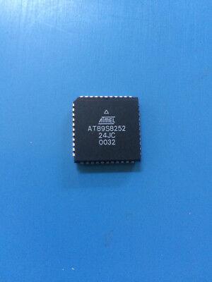At89s8252-24jc Atmel Ic Mcu 8bit 8kb Flash 44 Pin Plcc Microcontroller