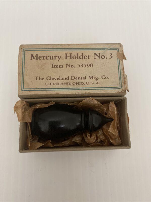 Vintage Antique? Dental Mercury Holder No. 3 Dispenser Cleveland Dental Mfg. Co