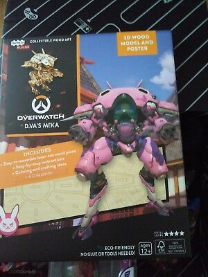 Overwatch 3D wood model and poster loot crate exclusive.