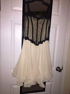 Ivory and black dance costume