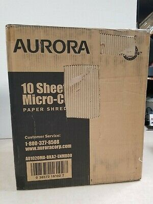 Aurora Au1020ma High-security 10-sheet Micro-cut Paper Shredder