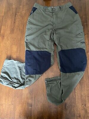 Bear Grylls Craghoppers Outdoor Hiking Pants, Sz 34x31, Elastic Waistband