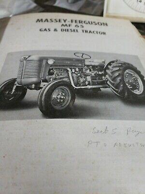 Massey Ferguson Mf 65 Gas And Diesel Tractor Manual