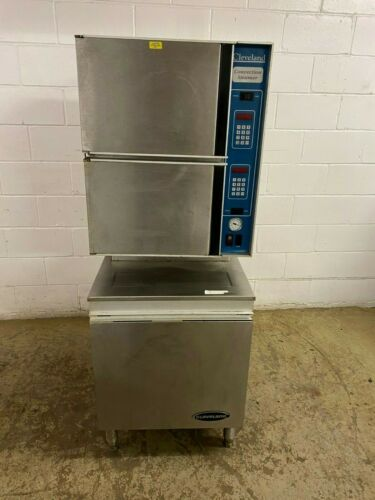 Cleveland Steamer Two Door Needs Steam System Not Self Contained Tested