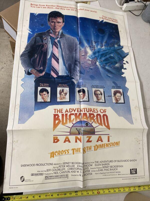 BUCKAROO BANZAI one sheet poster 1984 NSS# 840076