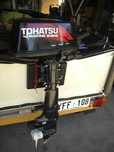 TOHATSU 5hp SHORT LEG 2 STROKE OUTBOARD MOTOR Semaphore Park Charles Sturt Area Preview