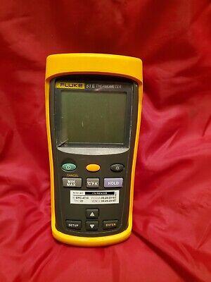 Fluke 51-2 Thermometer With Yellow Fluke Shell