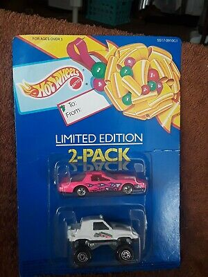 1:64 HOT WHEELS 1992 LIMITED EDITION 2-PACK PINK '80'S FIREBIRD & WHITE GULCH ST