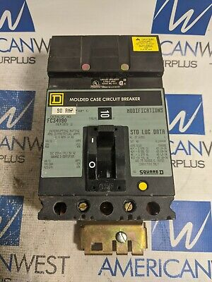 Fc34090 Square D 90 Amp 480 Volt 65ka Fc I Line Circuit Breaker Tested